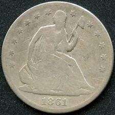 1861 (G) 50C SILVER SEATED LIBERTY HALF DOLLAR
