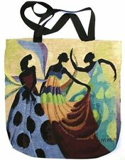 Dancer's In Black Skin African American Ebony Art Tapestry Tote Bag
