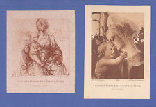 2 images pieuses Art Catholique 1936