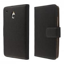 HTC One mini M4 portafoglio custodia nero flip case cover