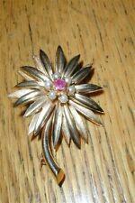 Vintage Lovely 14kt Genuine Ruby Pearls Flower Pin FB SON 8.9 grams