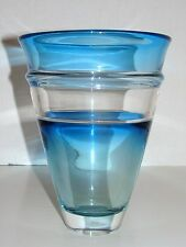 Large 1984 Conical Blue Signed Dated Art Reed Studio Art Glass Vase