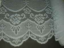 blue lace fabric scalloped trimming 22 extra wide X sold continuous By The Yard