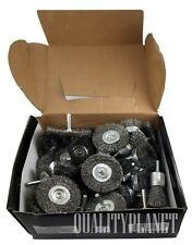 Wire Wheel Brush Cup 40pc Assortment Crimped Steel 1/4