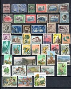 SUD-OUEST AFRICAIN, SWA, NAMIBIE, NAMIBIA LOT DE 46 TP OBLITERES TOUS DIFFERENTS