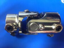 """3/4"""" Round X 1"""" DD Chrome Steering U Joint U-Joint Coupler Street Hot Rod Chevy"""