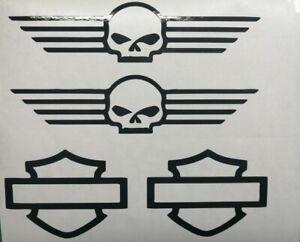 Harley Davidson Siluette Tank SET Aufkleber in Div.Farben Top Neu !!!