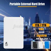 2.5'' 1TB / 2TB External Hard Drive Disk USB 3.0 SATA HDD Fit For PC  1E