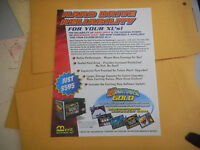 megatouch  hard drive xl   folded  MERIT    ARCADE   GAME  FLYER