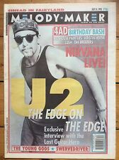 Melody Maker 31/7/93 U2 - The Edge cover, Nirvana, Elastica, The Young Gods