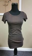 MICHAEL STARS Distressed Brown Short SleeveTee