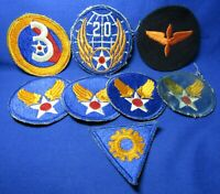 WWII 3rd Army Air Forces & 20th A-Bomb DI Unit Crest Patches Lot Of 8 - NO GLOW