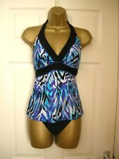 12 SWIMSUIT KIRKLAND MIRACLESUIT TANKINI + BOTTOMS CONTROL BLACK BLUE TOP NEW
