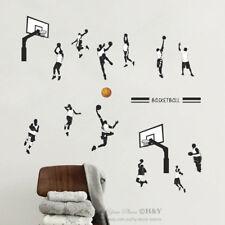 Basketball Player Sports Wall Stickers Kids Boys Nursery Decal Removable Art DIY
