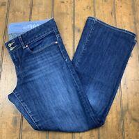 Gap 1969 Womens 29/8a Perfect Boot Jeans Blue Dark Wash Denim Bootcut Pants