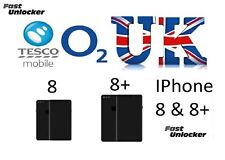 O2 Tesco UK official factory unlock code for apple iPhone 8 8+ 8 plus