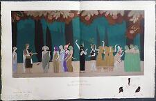 Charles MARTIN : Pochoir Art Déco ORIGINAL planche double 1914 GAZETTE BON TON
