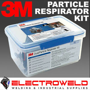 3M PARTICLE WELDING RESPIRATOR KIT 2125 P2 FILTERS HALF FACE GAS FUMES 6000 6225