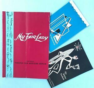 3x Programmheft Musical My Fair Lady Kleine Freiheit Volkstheater Sonnenhof~1959
