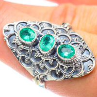 Zambian Emerald 925 Sterling Silver Ring Size 8 Ana Co Jewelry R54412