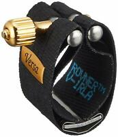 Rovner V-1RLA Versa Ligature w/ Cap for Hard Rubber Alto Sax, Gold Fitting