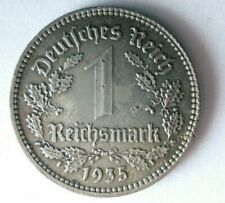 1935 NAZI GERMANY REICHSMARK - Very Rare Date/Type Coin - Lot #F24