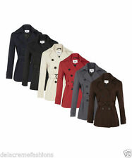 Polyester Patternless Casual LA Coats & Jackets for Women