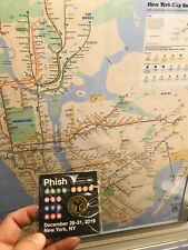 Phish Msg Nye Subway Token Pin 12/31/2019 Limited Edition Official Sold Out #500