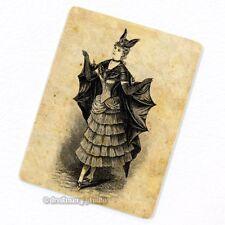 Victorian Bat Girl Costume Deco Magnet, Fridge Antique Figure Halloween Batgirl