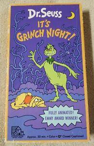 DR. SEUSS IT'S GRINCH NIGHT! Vhs Video Tape Halloween 1992 Animated Random House