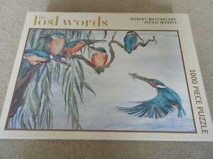 The Lost Words 1000 Pc Jigsaw Puzzle Robert Macfarlane Jackie Morris KINGFISHERS