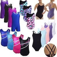 Girls Ballet Leotard Kids Sport Gymnastics Gym Tutu Jumpsuit Unitards Dancewear