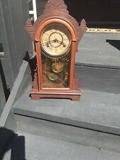 New ListingAntique Victorian F. Kroeber Walnut Mantel Clock Working