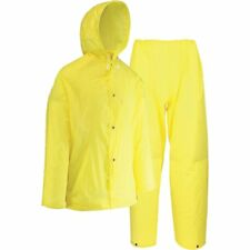 Westchester Protective Gear 2 Piece Yellow Eva Rain Suit Pants Hooded Jacket