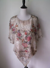 MED. NEW DIRECTIONS 2 LAYER BLOUSE EMBELLISHED EUC