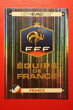 Panini EURO 2012 N. 456 FRANCE BADGE  NEW With BLACK BACK TOPMINT!!