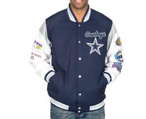 Dallas Cowboys 5-Time Super Bowl Champions ELITE Commemorative Jacket-SUPER SALE