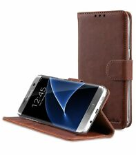 Melkco Leather Case for SAMSUNG GALAXY S7 EDGE WALLET STAND (Vin.Brown PU) 17337