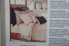 Ralph Lauren 2 KING PILLOWCASES Corso Campania Beige Stripe 100% Cotton