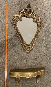 Barock Spiegel gold, mit Konsole