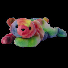 Ty Beanie Baby Sammy Tie Dyed Bear Doll Collectible With Tag to USA