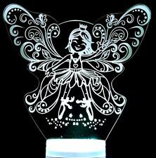 Fairy Princess Colour Change LED Night Light 16 Colours Remote Baby Childs Room