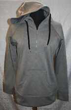 Kavu Klassic Pullover Hoodie M Gray Grey Half Zip Warm Nice! Womens Top Jacket