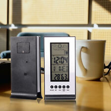 Digital Wireless Weather Station Indoor Outdoor Alarm Clock Forecast Calendar