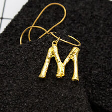 Big Womens Gold Plated Alphabet Initial Letter Pendant Chain Necklace A-Z NEW