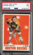 1970 O-Pee-Chee OPC Hockey #2 Johnny Bucyk Bruins HOF PSA 7 NM