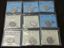 lot of 9 Canada 25 Cents Certified 1957 1969 1981 1985 1986 1988 1992 1994 2005P