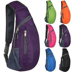 Small Men Women Chest Bag Pack Backpack Sport Shoulder Travel Sling Cross Body