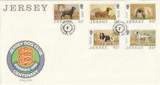 JERSEY 2 MARCH 1988 JERSEY DOG CLUB FIRST DAY COVER JERSEY SHS