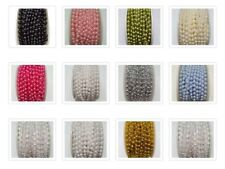 Pearl Beads on a String Trimming Size 5m Wedding Cakes Decorations 5 Lengths